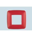 Placa ornament 2 module (1+1) ROSU  ECO60