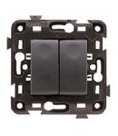 Comutator dublu cap scara Negru ECO60