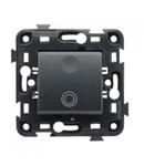 Push buton iluminabil 10A- cu simbol clopotel  Negru ECO60