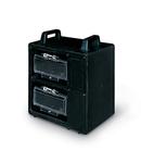 Cutie montaj IP65 2x12 MOD. 400x400x275mm PORTABLE WITH HANDLE BLACK
