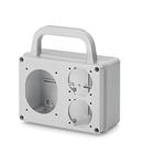 MULTI -WAY ADAPTOR IP54 1x(70x87mm) - 2x(50x60mm)