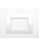 Placa ornament alb 3 module