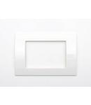Placa ornament alb 2 module