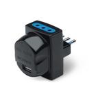 USB ADAPTOR 2P+E-10A-(S11) BLACK 2x2P+E-10A-(P11) 1xUSB 5V 2.1A