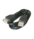 USB CABLE 1,8m USB Type A THERMOPLASTIC BLACK (SPINA-PRESA)