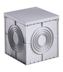 SQUARE ACCES CHAMBER 200X200X200 - FLAT KNOCKOUT BASE AND HIGH RESISTANCE LID