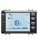 TIMED THERMOSTAT/PROGRAMMER WITH HUMIDITY MANAGEMENT - KNX - 3 module - BLACK - CProiector HORUS