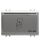 TRANSPONDER CARD HOLDER UNIT - KNX - 12/24V ac/dc - 3 module - TITANIUM - CProiector HORUS