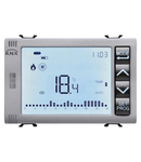 TIMED THERMOSTAT/PROGRAMMER WITH HUMIDITY MANAGEMENT - KNX - 3 module - TITANIUM - CProiector HORUS