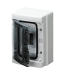 RESIDENTIAL SURFACE-MOUNTING ENCLOSURE 8 module IP65 WITH TERMINAL BLOCK