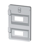 FRONT PANEL WITH WINDOWS 14 module 316X396 ENCLOSURES - GREY RAL7035