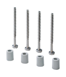 KIT CONTAINING 4 LONG SELF.THREADING SCREWS FOR FIXING LIDS