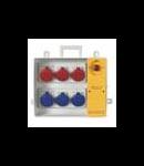 Organizator santier  4x2P+E + 2x3P+E cu sig iesire 3x25A/2p + 1x32/3p Scame Push Buton