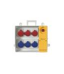 Organizator santier  5x2P+E + 1x3P+E cu sig iesire 3x25A/2p + 1x32/3p Scame Push Buton