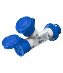 Adaptor industrial 2 OUTPUTS IP67 - PLUG 16A - 2 SOCKET-OUTLETS 3P+E 230V 50/60HZ - BLUE - 9H
