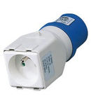 Adaptor industrial IP44 - SOCKET-OUTLET 2P+E 16A 230V ac 50/60HZ - 1 PLUG 2P+E 16A FRENCH STD