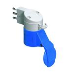 Adaptor industrial IP44 - PLUG 2P+E 16A 250V ac S17 50/60HZ - SOCKET OUTLET 2P+E 16A 230V ac