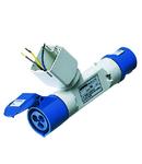 Adaptor industrial IP44 - 1 BRANCHED OUTLET - FITTING FOR 2 MODULE SYSTEM RANGE - PLUG 2P+E 16A 230V ac 50/60HZ - 1 SOCKET-OUTLET 2P+E 16A 230V ac