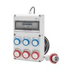 Q-DIN 14 ACS - MOBILE-PORTABLE - WITH CABLE AND PLUG - 4 2P+E 16A IEC309 + 2 3P+E 16A IEC309 - IP65