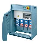 Organizator Q-BOX 4 - WITH TERMINAL BLOCK - WIRED - 2 2P+E 16A IEC 309 + 2 3P+E 16 A + 1 3P+E 32A - IP55