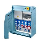 Organizator Q-BOX 4 - WITH TERMINAL BLOCK - WIRED - 4 Priza schuko 16A + 2 2P+E 16 A + 2 3P+E 16A + 1 3P+N+E 16 A - IP55