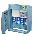 Organizator Q-BOX 4 - WITH TERMINAL BLOCK - WIRED - CBF - 2 2P+E 16A + 1 3P+E 16A + 1 3P+N+E 16A - IP55