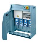 Organizator Q-BOX 4 - WITH TERMINAL BLOCK - WIRED - 1 2P+E 16A + 2 3P+E 16 A - 1 3P+E 32A - IP55