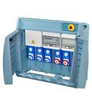 Organizator Q-BOX 4 - WITH TERMINAL BLOCK - WIRED - CBF - 3 2P+E 16A + 2 3P+E 16A + 1 3P+N+E 63A - IP55