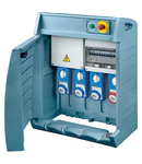 Organizator Q-BOX 4 - WITH SUPPLY PLUG - WIRED - 2 2P+E 16A + 1 3P+N+E 16 A + 1 3P+N+E 32A - IP55