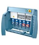 Organizator Q-BOX 6 - WITH SUPPLY PLUG - WIRED - 3 2P+E 16A + 2 3P+E 16A + 1 3P+N+E 32A - IP55