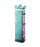 QMC63 - FIRE FIGHTING - COMPACT 2 module - 6KG EXTINGUISHER FITTEDE - LIGHT BLUE