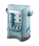 QMC125B - WIRED - SINGLE SIDE TAKE-OFF - 2 SOCKET OUTLET 2P+E 16A + 2 SOCKET OUTLET 3P+N+E 16E - IP44 - LIGHT BLUE