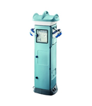 QMC63C - WIRED - FOR CAMPSITE - DOUBLE SIDE TAKE-OFF - 4 SOCKET OUTLET 2P+E 16A Organizator santier C - IP55 - LIGHT BLUE