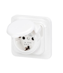 FLUSH MOUNTING RCD SAFETY SOCKET-OUTLET - 16A 0,03mA IP44
