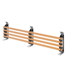 PAIR OF BUSBAR-HOLDER - FOR FLAT BUSBARS 25x4-30x5 - 250-400A - FOR STRUCTURES D=200 - EXTERNAL COMPARTEMENT - FOR QDX 630L/H