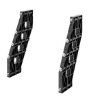 PAIR OF BUSBAR-HOLDER - FOR SHAPED BUSBAR IN ALUMINIUM - 630A - FOR STRUCTURES D=400 - SIDE COMPARTMENT - FOR QDX 630H