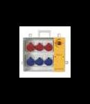 Organizator santier  5x2P+E 16A 2x3P+E 16a 2x3P+N+E 16a  Scame cu Push Buton