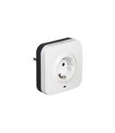 Protected priza - German standard - 2P+E + 2xRJ 45 priza - volt surge protector