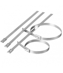 Colier cablu inox 7,9×400 – (20buc)