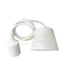 Dulie cu fir E27/1,0m (pendul) – alb