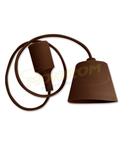 Dulie cu fir E27/1,0m (pendul) – maro