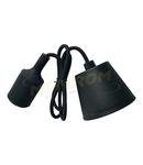 Dulie cu fir E27/1,0m (pendul) – negru