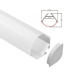 Profil colt cu dispersor pentru banda LED rigida YF-856 / aluminiu