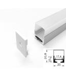 Profil led aluminiu PXG- 108/1 – aplicat/1m