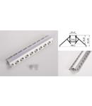 Profil led aluminiu PXG- 302/2 – colt exterior/ingropat/gips carton/2m
