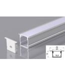 Profil led aluminiu PXG-2015A/2 – ingropat/gips carton/2m