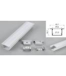 Profil led aluminiu PXG-3020A/1 – ingropat/gips carton/1m