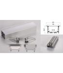 Profil led aluminiu PXG-5035A/1 – ingropat/gips carton/1m