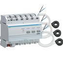 Centrală de măsură 3 circuite KNX, cu transformatori