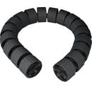 Protecție verticală cablu, flexibilă, 70 mm, 1 m, RAL9005